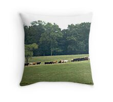 """When The Cows Come Home"" Throw Pillow"