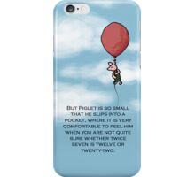 Piglet (is so small) iPhone Case/Skin