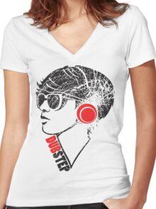 Dubstep Girl Women's Fitted V-Neck T-Shirt