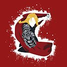 Edward Elric - Paint splatter by Carlosthellama