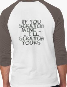 FATHERS DAY GIFT - THE  BACK SCRATCHER KIT! Men's Baseball ¾ T-Shirt