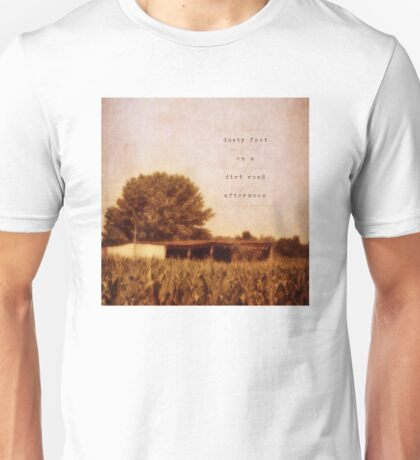 dusty feet on a dirt road afternoon T-Shirt