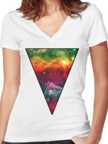 The Triangle 2 Women's Fitted V-Neck T-Shirt