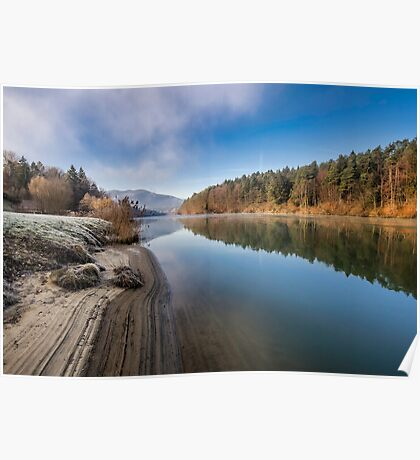 Morning at the river Poster
