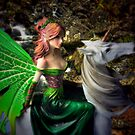 Glimpse of a woodland fairy by the stream by Steve