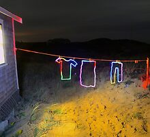 Wash Day on Cape Cod (Light Painting) by Christopher Seufert