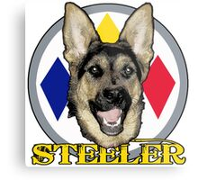 A dog named Steeler Metal Print