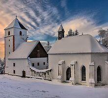 Snowed in church by Peter Zajfrid