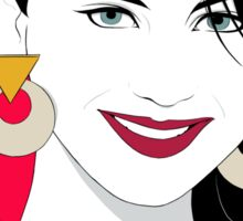 Patrick Nagel's Portrait Sticker