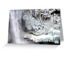 Snoqualmie Falls in Winter Greeting Card