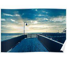 Morning on the Boardwalk Poster
