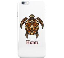 Gold Hawaiian Sea Turtle on White iPhone Case/Skin