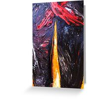 fragment of the picture PUZZLE BODY - canvas 16 x 22'' , oil, acrylic Greeting Card