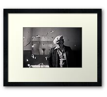 Man and his muse Framed Print