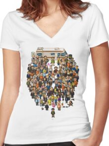 Super Breaking Bad Women's Fitted V-Neck T-Shirt