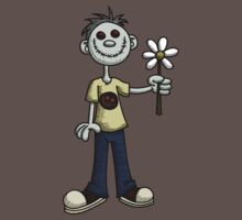 Creepy Boy with Flower by Wislander
