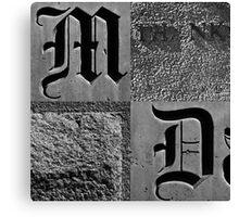 Typography: Dallas Canvas Print