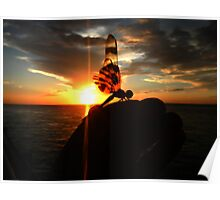 dragon Sunset Poster