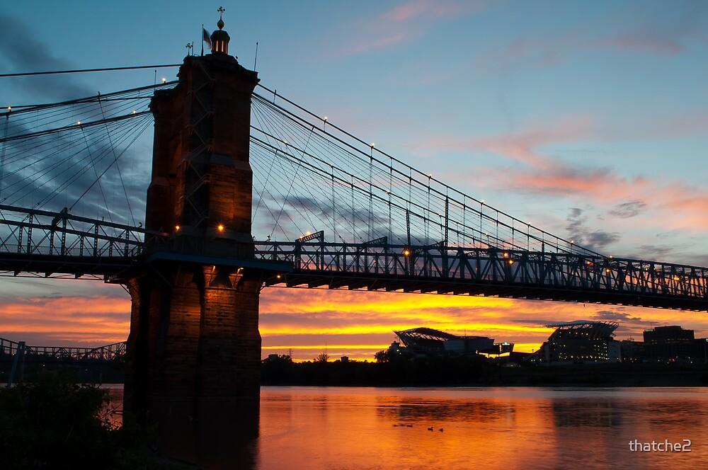 Sunset in Cincinnati by thatche2