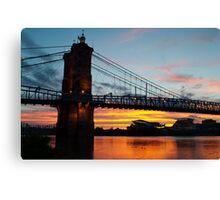 Sunset in Cincinnati Canvas Print