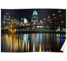 Cincinnati at Night Poster