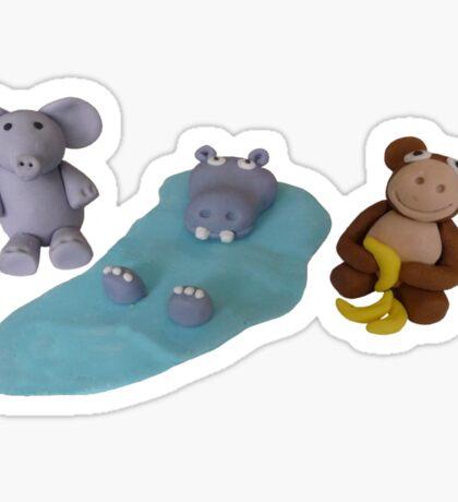 Kat's Icing Animals Sticker