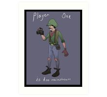 Hipster Luigi Art Print
