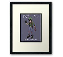 Hipster Luigi Framed Print
