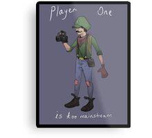 Hipster Luigi Metal Print