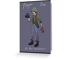 Hipster Luigi Greeting Card