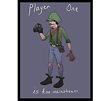 Hipster Luigi Photographic Print