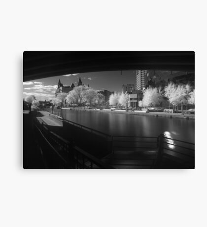 Downtown Ottawa Infra-Red Evening Canvas Print