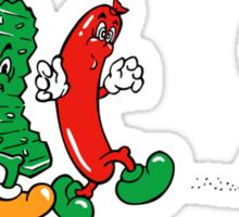 Burger Time Parade  Sticker