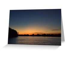 Sunset on the Gin Arm Greeting Card