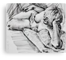 Dreaming in charcoal Canvas Print
