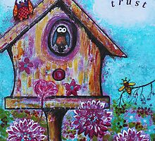 Birds and the Bee Trust Art Reproduction by Tanya Anne Cole by Tanya Cole