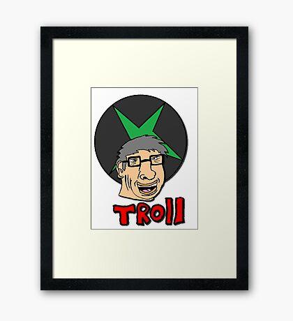 bill gates is a troll Framed Print