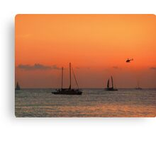 Hawaii helicopter Canvas Print
