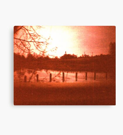 Redscale Road 1 Canvas Print