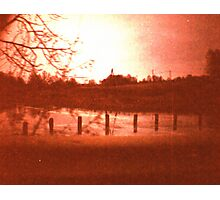 Redscale Road 1 Photographic Print
