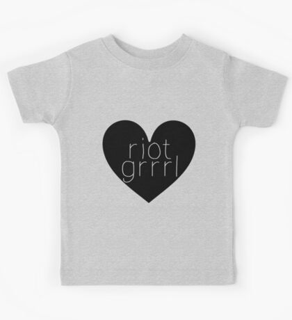 Riot Grrrl - Transparent Text Kids Tee