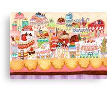 Dessert city Canvas Print