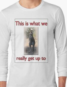 THIS IS WHAT WE REALLY GET UP TO Long Sleeve T-Shirt