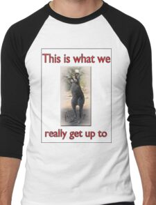 THIS IS WHAT WE REALLY GET UP TO Men's Baseball ¾ T-Shirt