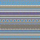Basic Aztec Geometric Pattern - Grey by Jacqui Frank