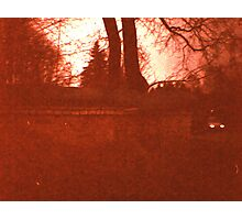 Redscale Road 2 Photographic Print