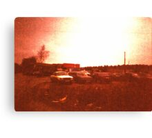 Redscale Road 3 Canvas Print