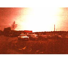 Redscale Road 3 Photographic Print