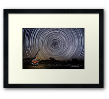 Time-exposure of polar star trails. Framed Print