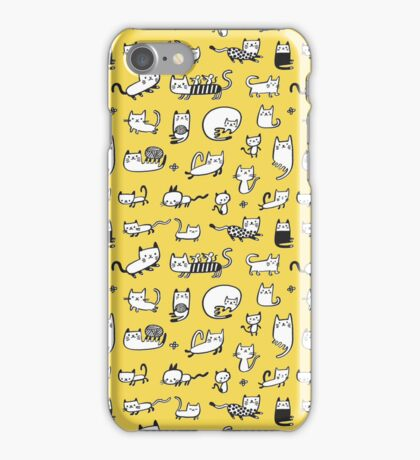 Yellow Kitties iPhone Case/Skin